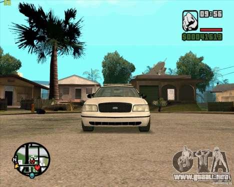 Ford Crown Victoria Baltmore County Police para GTA San Andreas left
