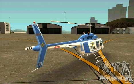 Bell 206 B Police texture1 para la visión correcta GTA San Andreas