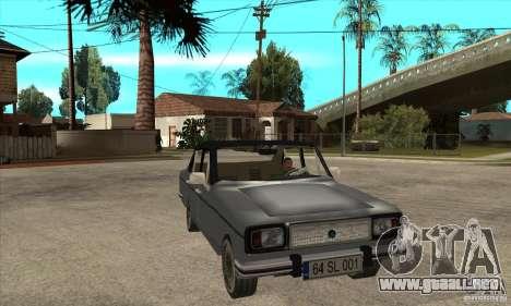 Anadol A1 SL 1975 para GTA San Andreas vista hacia atrás