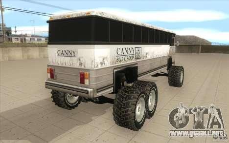 Bus monster [Beta] para GTA San Andreas vista posterior izquierda