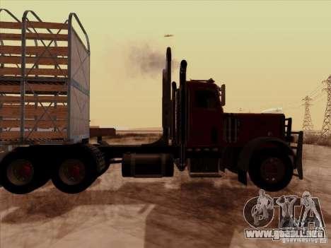 Peterbilt 359 Day Cab para la visión correcta GTA San Andreas