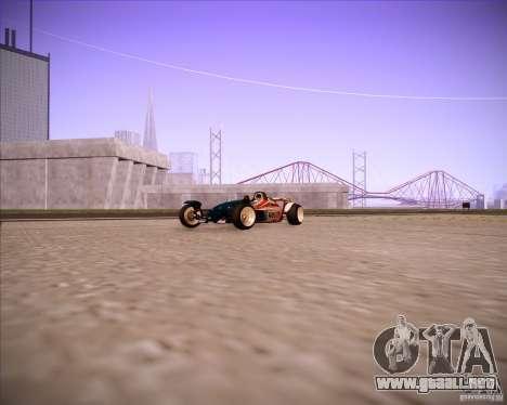 Track Mania Stadium Car para GTA San Andreas vista posterior izquierda