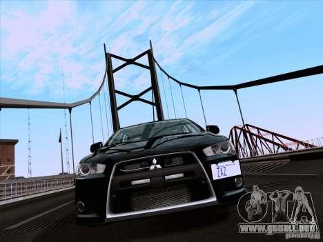 Mitsubishi Lancer Evolution X 2008 para GTA San Andreas left