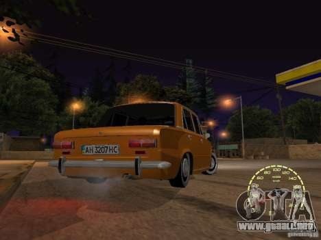 VAZ 2101 restaurado para visión interna GTA San Andreas
