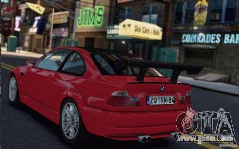 BMW M3 Street Version e46 para GTA 4 Vista posterior izquierda