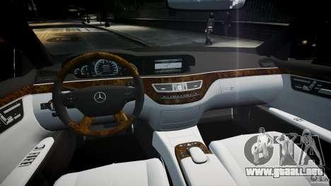 Mercedes Benz w221 s500 v1.0 sl 65 amg wheels para GTA 4 visión correcta