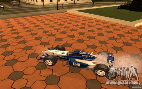 BMW F1 Williams para GTA San Andreas vista posterior izquierda