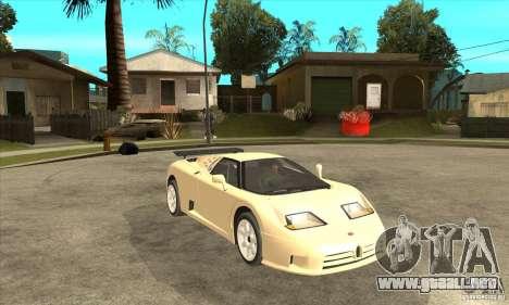 Bugatti EB110 SS 1992 para la visión correcta GTA San Andreas