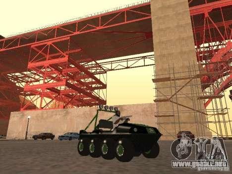 Vehículo todo terreno Argo Avenger para GTA San Andreas left