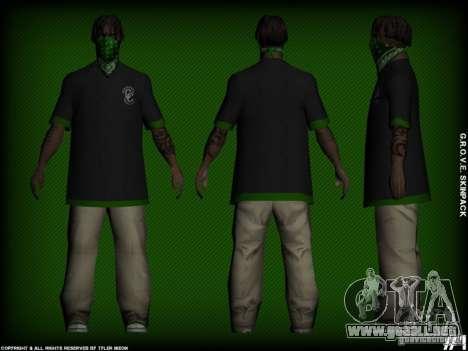 G.R.O.V.E. Skinpack para GTA San Andreas segunda pantalla