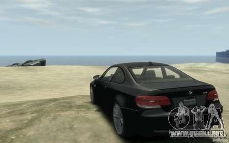 BMW M3 E92 2008 para GTA 4 Vista posterior izquierda