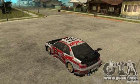Subaru Impreza 2002 Tunable - Stock para las ruedas de GTA San Andreas