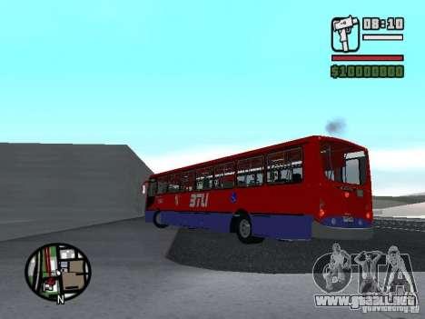 Busscar Urbanuss Pluss VW 17-230 EOD Alongado para GTA San Andreas vista posterior izquierda