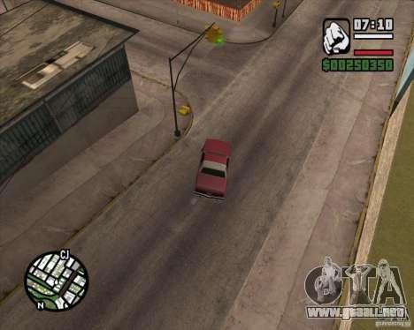 Cámara como en GTA Chinatown Wars para GTA San Andreas tercera pantalla