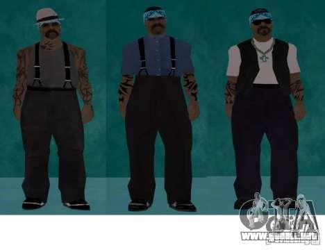 Bandas de pieles HQ para GTA San Andreas segunda pantalla