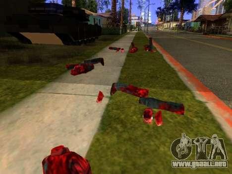 Chainsaw Massacre v. 2.0 para GTA San Andreas sucesivamente de pantalla