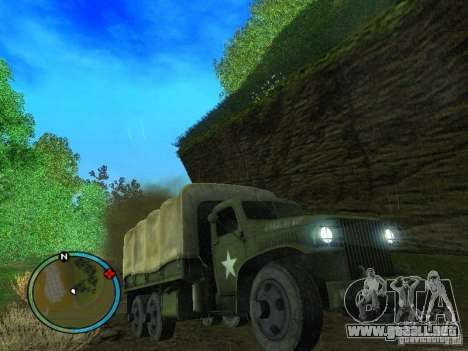 Millitary Truck from Mafia II para GTA San Andreas vista hacia atrás