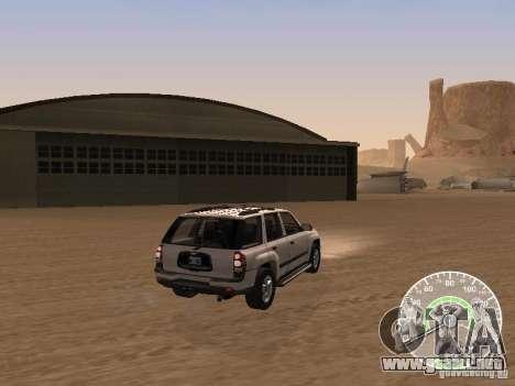 Chevrolet Trail Blazer para GTA San Andreas vista posterior izquierda