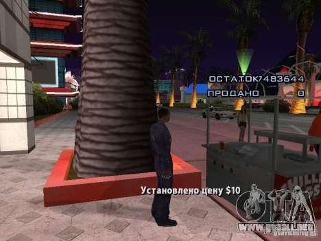 Vendedor de perritos calientes para GTA San Andreas segunda pantalla