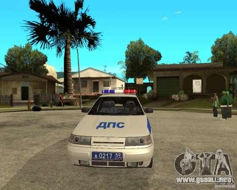 LADA 21103 DPS para GTA San Andreas vista hacia atrás