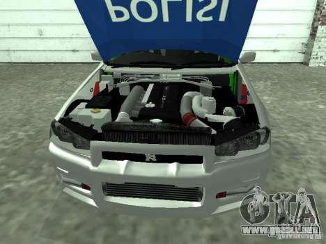 Nissan Skyline Indonesia Police para la visión correcta GTA San Andreas