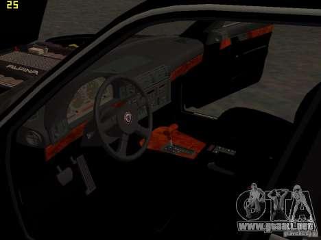 BMW E34 Alpina B10 Bi-Turbo para vista inferior GTA San Andreas