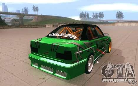 BMW E34 V8 Wide Body para vista lateral GTA San Andreas