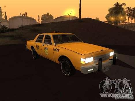 Chevrolet Caprice 1986 Taxi para GTA San Andreas