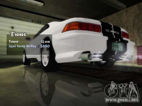 Toyota MR2 GT para la vista superior GTA San Andreas