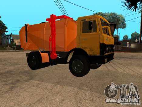 CAMIÓN DE BASURA MAZ 54323 para GTA San Andreas left