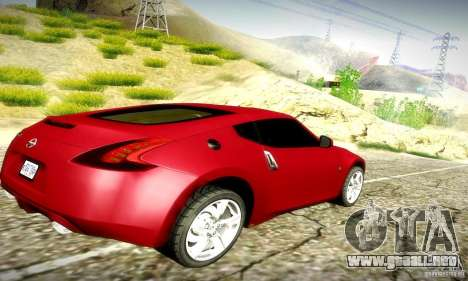 Nissan 370Z V2 para GTA San Andreas vista hacia atrás