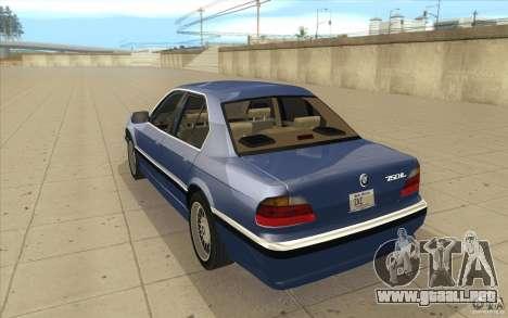 BMW 750iL 1995 para GTA San Andreas vista posterior izquierda