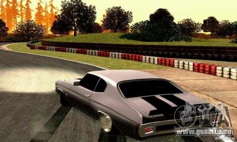 Chevrolet Chevelle 1970 para GTA San Andreas vista posterior izquierda