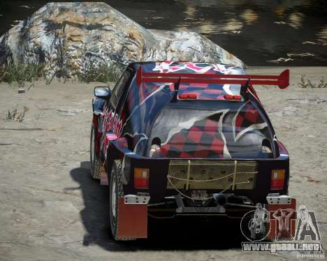 Mitsubishi Pajero Proto Dakar vinilo 3 para GTA 4 vista lateral