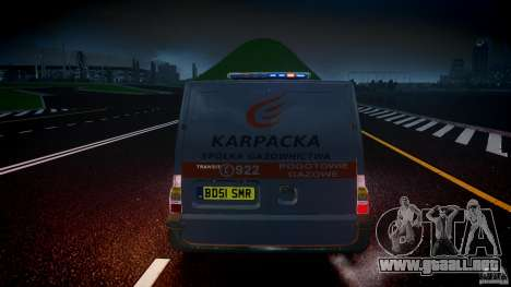 Ford Transit Usluga polski gazu [ELS] para GTA 4 interior