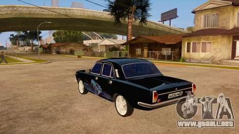 Volga GAZ 24 para GTA San Andreas vista posterior izquierda