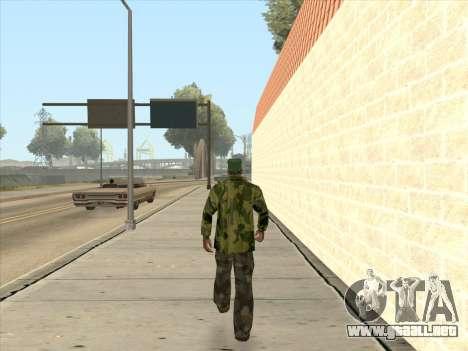 Chaqueta de camuflaje para GTA San Andreas quinta pantalla