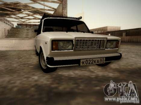 VAZ 2107 v2 para GTA San Andreas left