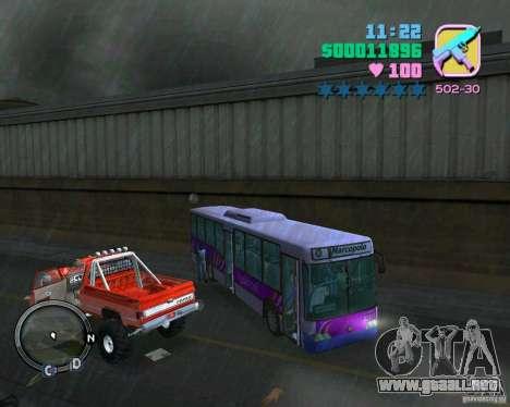 Marcopolo Bus para GTA Vice City vista interior