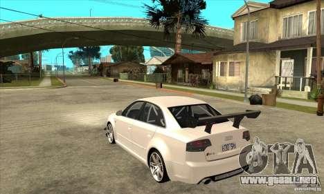 Audi RS4 2006 para GTA San Andreas vista posterior izquierda