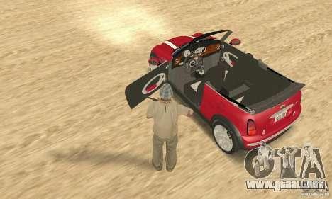 Mini Cooper Convertible para GTA San Andreas vista hacia atrás