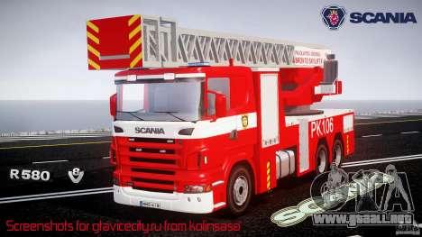 Scania R580 Fire ladder PK106 [ELS] para GTA 4