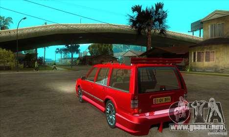 Volvo 945 Wentworth R with bodykit (1.2) para GTA San Andreas vista posterior izquierda