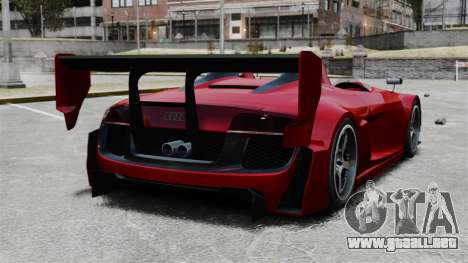 Audi R8 Spider Body Kit Final para GTA 4 Vista posterior izquierda