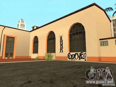 Nuevas texturas para la estación de la unidad para GTA San Andreas segunda pantalla