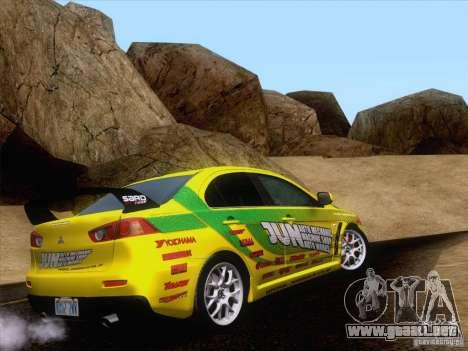 Downhill Drift para GTA San Andreas quinta pantalla