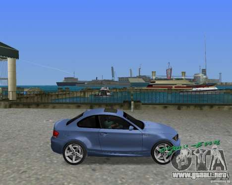 BMW 135i para GTA Vice City visión correcta