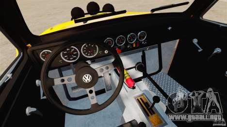 Volkswagen Fusca Buggy 1963 para GTA 4 vista hacia atrás