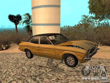 Ford Cortina MK 3 Life On Mars para GTA San Andreas vista hacia atrás