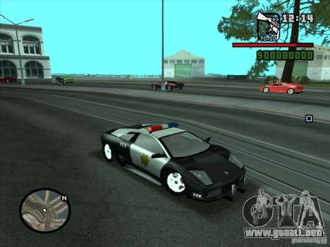 Lamborghini Murcielago Police para la visión correcta GTA San Andreas